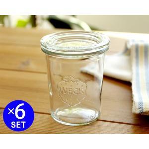 ウェック モールドシェイプ WE760 ガラスキャニスター 160ml 直径Sサイズ 6個セット ideale