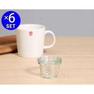 ウェック モールドシェイプ ガラスキャニスター 25ml 直径XSサイズ 6個セット WE756 WECK Mold ideale