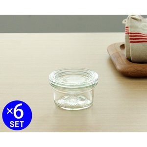 ウェック モールドシェイプ ガラスキャニスター 50ml 直径Sサイズ 6個セット WE755 WECK Mold ideale