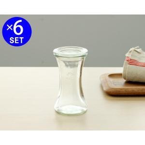 ウェック デリカテッセン ガラスキャニスター 200ml 直径Sサイズ 6個セット WE995 ideale