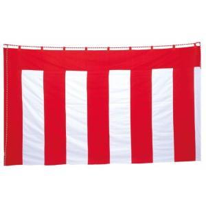 紅白幕 180cm×9m(1間×5間)丈夫で綺麗なトロピカル生地 紅白ロープ付|ideashopshowa|04
