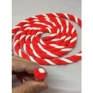 紅白ロープ(紅白紐)太さ12mm (m単位で切り売り)アクリル製|ideashopshowa|05
