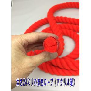 太さ24ミリのロープ (紐) 赤と白があります 太さ24mm (m単位で切り売り)カラーロープ|ideashopshowa|02