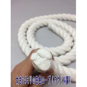 太さ24ミリのロープ (紐) 赤と白があります 太さ24mm (m単位で切り売り)カラーロープ|ideashopshowa|03