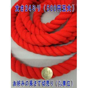 太さ24ミリのロープ (紐) 赤と白があります 太さ24mm (m単位で切り売り)カラーロープ|ideashopshowa|04