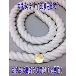 太さ24ミリのロープ (紐) 赤と白があります 太さ24mm (m単位で切り売り)カラーロープ|ideashopshowa|05