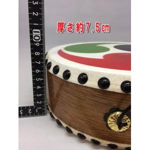 巴太鼓65号 子供用たいこ バチ付 日本製 本革手作り太鼓 20.5cm|ideashopshowa|03