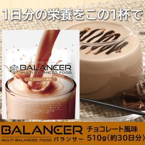 栄養ドリンク バランサー 30D 510g チョコレート風味 栄養補助食品 低糖質 たんぱく質 ビタ...