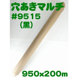 (送料無料) 穴あきホールマルチ #9515(黒) (農業用マルチ)|ideshokai