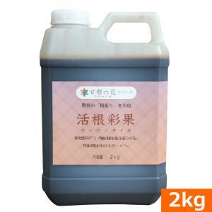 (送料込)驚異の根張りを実現する液体肥料・発根剤 活根彩果(カッコンサイカ)(2kg)(肥料 土壌改良 家庭菜園 園芸)|ideshokai