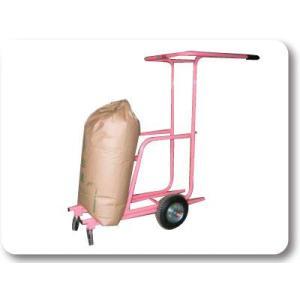 米袋の運搬・調整作業に 移動台車「うんぱんマン」 ideshokai