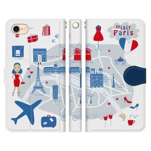 パリの地図スマホケースカバーの商品一覧スマホタブレット