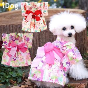 犬の服 iDog 愛犬用浴衣ワンピ 花みやび アイドッグ