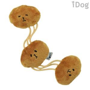 犬用品 iDog のびのびなっとう 鈴とカシャカシャと鳴き笛入り アイドッグ|idog