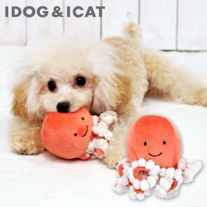 犬用品 IDOG&ICAT にょろにょろタコさん 鳴き笛入り  アイドッグ|idog
