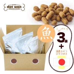 ドッグフード ドットわん 魚ごはん お得用パック 3kg+国産おやつ付き ラッピング不可|idog