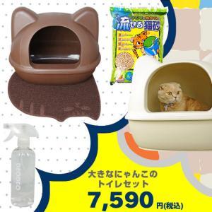 猫用トイレ用品 iCat 大きなにゃんこのトイレセットの画像