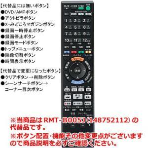 【在庫あり】 ソニー 本体付属リモコン RMT-B005J (148752112)の代替品 代替リモコン (991340664) BDレコーダー用 メーカー純正 SONY|idosawa