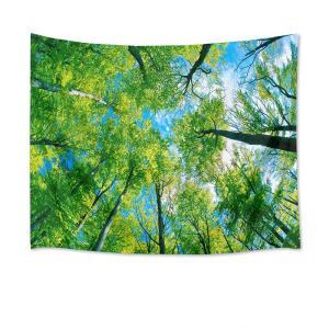 LB 自然風景タペストリー 新緑の森と青空 おしゃれ壁掛け ファブリック装飾用品 風景写真 多機能インテリア モダンなアート 模様替え 部屋|idr-store