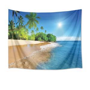LB自然風景タペストリー 海とビーチ 椰子の木と?空 インテリア 壁掛け おしゃれ ホーム装飾タペス...