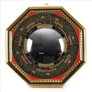 八卦羅盤凸面鏡 背面:四神獣仕様 黄金色/大サイズ 風水玄関鏡グッズ|idr-store