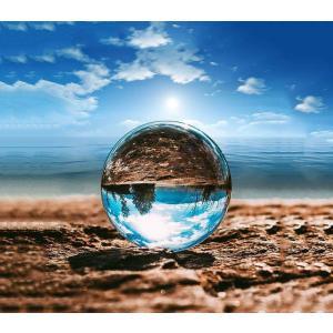MerryNine クリスタルボール 60mm 80mm 110mm レンズボール 無色透明 水晶玉 ガラス玉 ガラスのボールクリスタル台座