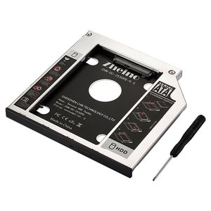 Zheino 2nd 9.5mmノートPCドライブマウンタ セカンド 光学ドライブベイ用 SATA/...