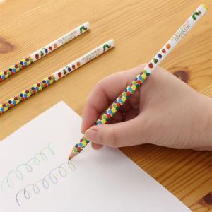 学研ステイフル はらぺこあおむし 色鉛筆 三角えんぴつ 4色芯 3本 H04870 idr-store