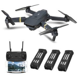 EACHINE E58 ドローン カメラ付き 小型 720P 200万画素 HD カメラ バッテリー3個 空撮 スマホで操作可 WIFI F|idr-store