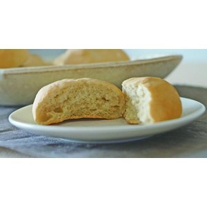 グルテンフリー、アレルギー対応の米粉パン/おいしい玄米丸パン 6個入り×8袋 (プレーン)
