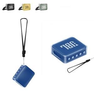 XHS JBL Go 2 Bluetoothスピーカー ケース 保護カバー クリアーケース ストラップ付き TPU 衝撃吸収 携帯便利 (透|idr-store