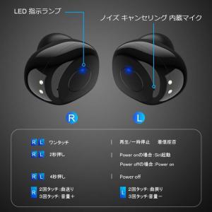 2019最新版 Bluetooth 5.0Pendoo T6 bluetooth イヤホン 自動ペアリング 完全ワイヤレス AAC対応,ブル|idr-store