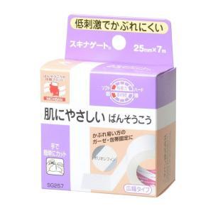 ニチバン 低刺激巻ばんそう膏 スキナゲート 25mm幅 7m巻き 1巻入り|idr-store