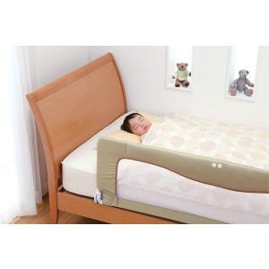 日本育児 ベッドフェンス SG ベージュ NI-4207|idr-store