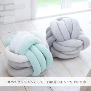 PUPPAPUPO ベッドガード ノットクッション グレー 190cm 赤ちゃんにやさしい ノンホルムアルデヒド|idr-store