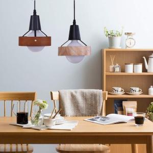 ペンダントライト ペンダントランプ LINGKAI 1灯 E26 ウッド製リングシェード インテリア照明器具 天井照明 引掛シーリング式 工|idr-store