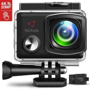 進化版Victure アクションカメラ 2インチタッチパネル 4K高画質 2000万画素 手振れ補正 WiFi搭載 30M防水カメラ 超広角|idr-store