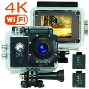 アクションカメラ 4K wifi アクションカム 広角レンズ 防水ケース スペアバッテリー付属 アクセサリー付属 日本語取扱説明書付 Tin|idr-store