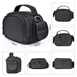 FOSOTO ビデオカメラケース ビデオカメラ用 バッグ デジタルカメラバッグ ショルダーベルト付 仕切り Panasonic V360MS|idr-store
