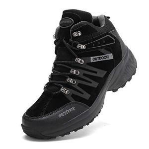 アッション ハイキングシューズ メンズ 防水 防滑 トレッキングシューズ 耐磨耗 登山靴 アウトドア...