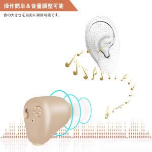 集音器 耳穴式集音器 充電式集音器 5階段音量調節 雑音抑え 左右両用?目立たない 軽量小型 イヤーピース4個付 プレゼント|idr-store