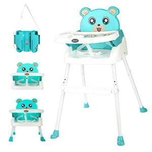 BBH ハイチェア 3WAY 多機能 ベビーチェア キッズチェア 高さ調整 折りたたみ ポータブル 子供 いす 赤ちゃん イス 食事椅子 腰|idr-store