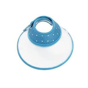Tenn Well エリザベスカラー, 軽量 ソフト ボタン式 犬・猫用カラー 首周り17-23cm (ブルー)|idr-store