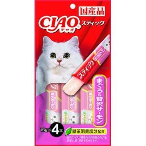 チャオ (CIAO) 猫用おやつ スティック まぐろ&贅沢サーモン 15g×4本入|idr-store