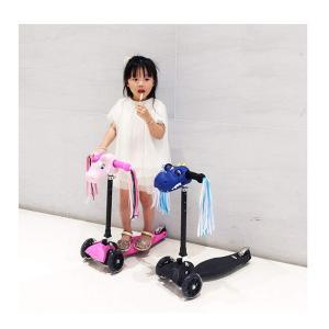 Aking 子供自転車ベル ハンドルバーリボンカラフルなスクータータッセル キッズ ガールズ ボーイ...