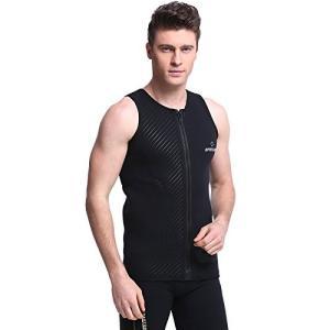 ベスト ウエットスーツ メンズ 3mm ウエットスーツベスト フロントジッパー サーフィン ノースリーブ タッパー 裏起毛素材|idr-store