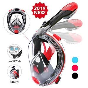 HENGBIRD シュノーケルマスク フルフェイス型 度付きレンズ装着可能 ダイビングマスク シュノーケリング マスク 水中メガネ 折畳み式|idr-store
