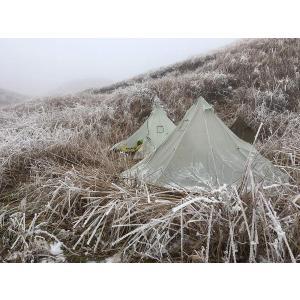 Black Orca ワンポールテント 軽量テント 2人用 簡単設営 防水 キャンプ用(白)|idr-store