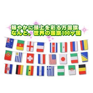 Morina 万国旗 運動会 100ヶ国分 小サイズ / 25m 日の丸有 連旗 運動会 フェスティバル 国際交流|idr-store