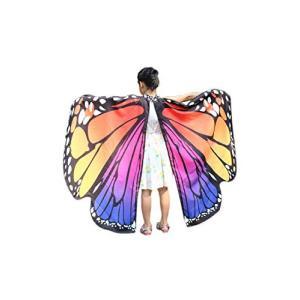 Lumierechat ハロウィン マント 蝶々 蝶 ちょうちょ 羽根 コスチューム 衣装 コスプレ 変装 仮装 バタフライ 子供 a-b6|idr-store